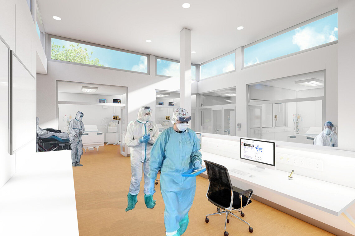 Architect designs 'healthier' temporary ICUs for COVID-19 patients