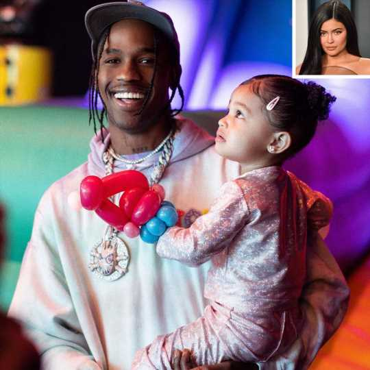 Travis Scott Playfully Skewers Kylie Jenner Over 'Blurry' Photos of Daughter Stormi, 2½