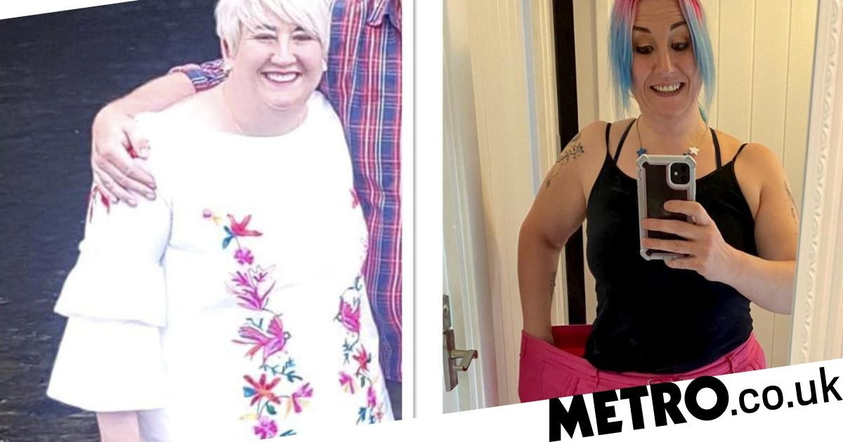 NHS worker loses seven stone after patients thought she was pregnant
