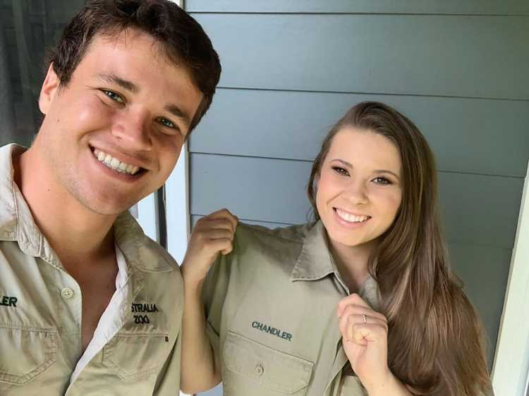 Pregnant Bindi Irwin Borrows Her Husband Chandler Powell's Work Shirt to Fit Over Baby Bump