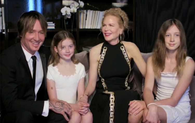 Nicole Kidman and Keith Urban's Daughters Sunday and Faith Make Rare Appearance at Golden Globes