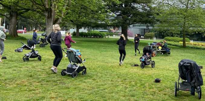 Outdoor exercise benefits new moms' mental health during the COVID-19 pandemic